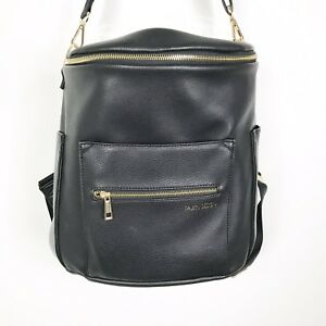 Fawn Design Original Diaper Bag Backpack Black Leather