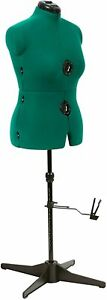Dress Form Mannequin Professional Sewing Stand Female Size Medium Adjust Green $138.99