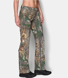 NEW UNDER ARMOUR FITTED SCENT CONTROL WOMEN'S REAL TREE CAMO FIELD HUNTING PANTS