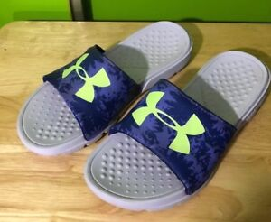 UNDER ARMOUR Sandals Size 5Y Blue Yellow And White $18.69