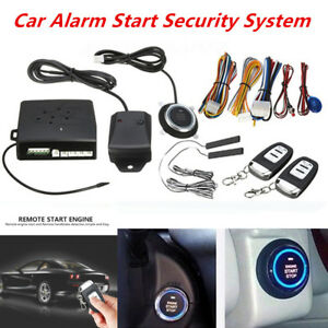 Universal Immobilizer RFID Car Entry Security Keyless Start Stop Push Button Set