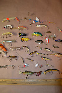 Lot of 36 Vintage Fishing Lures-Heddon Rapala Reeper Manns Flex Ike #1472
