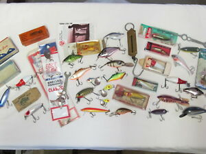 Huge Lot Heddon Rapala Natural Ike Rebel Empty Lure Boxes Old Tackle Vintage