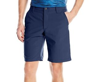 Under Armour NEW Blue Mens Size 36 Button-Front Match Play Shorts $64 097