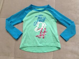 Nike Dry Fit Green Blue Athletic Top Shirt  Size 3 Toddler Girl Just Do It