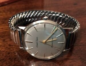 Vintage 1960 Seiko Crown 15002 Cal.560 21J Men's Watch w Kreisler SS Bracelet