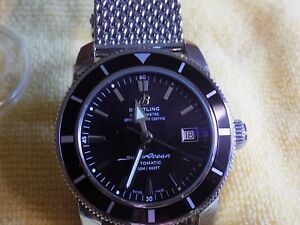 Breitling Superocean Heritage A17321 Mesh Bracelet 42mm Mens Watch