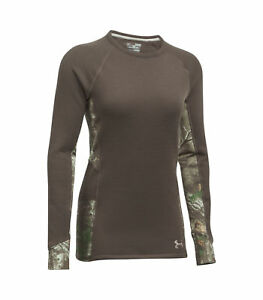 Under Armour women's Extreme base Realtree Hunting Shirt Brown Camo S M L XL $80