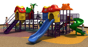 30x25x12 Commercial Outdoor Playground Equipment Theme Playset 100% Financing