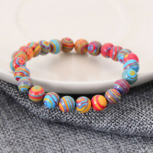 6mm 8mm 10mm Fashion Men Women Natural Stone Stretchy Bracelets Jewelry Gift $5.99