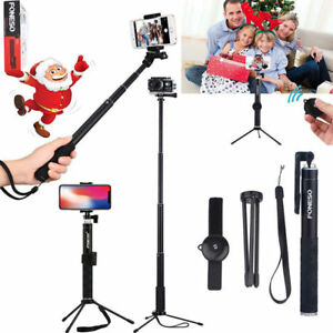 Smart Phone Selfie Stick Remote Shutter Extendable Handheld Monopod For iPhone