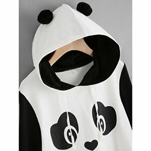 Womens aimtoppy Fashion Ladies Panda Parka Sweatshirt Hooded Pullover Jumper Top
