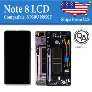 Samsung Note 8 N950 OEM LCD Replacement Touch Screen Digitizer Display Frame SB3