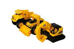 CAT Tough Tracks Toy Construction Set (Excavator Front-end Loader Dump Truck)