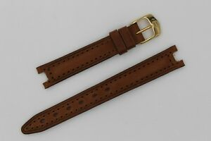 NEW Tag Heuer SEL 13mm Brown Leather Women Watch Strap Band Bracelet Gold SEL