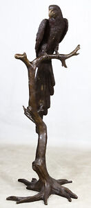 MONUMENTAL Phillips (20th Century) Solid Bronze Parrot