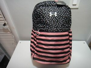 Under Armour Favorite Girls BackPack Padded Laptop Sleeve Polka Dots Stripes