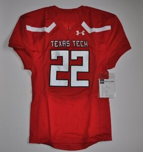 Under Armour Mens Texas Tech #22 Stock VORTEX Fall 2018 Football Jersey L NWT