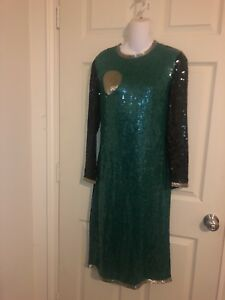 Riazee Size 8 Formal Cocktail Stunning Sequins Beaded Evening Gown $216.66