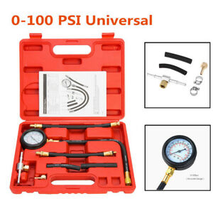 Universal Fuel Injection Pump Pressure Injector Test Pressure Gauge 0-100 PSI