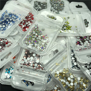 46 colors 2 5mm 400pcs Nail Art Rhinestones Crystal Gems 3D Tips DIY Decoration $1.39
