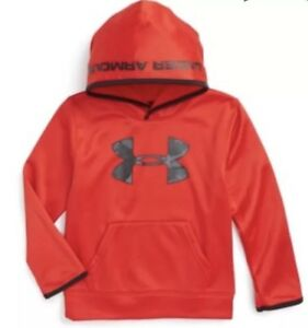 NWT Under Armour Boys Red Black Big Camo Logo Sweatshirt Hoodie 27B54178 Sz 5 6 $25.00