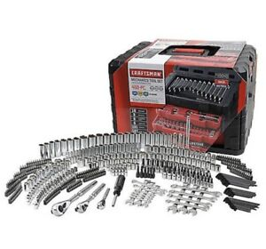 Craftsman 450 Piece Mechanics Tool Set W Case Wrenches SAE Metric 268 298 NEW