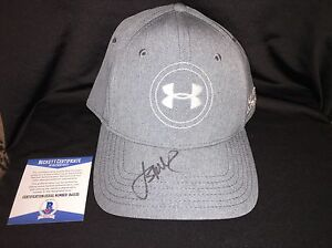 Jordan Spieth Signed Official Under Armour Hat Beckett Auth Masters Champ
