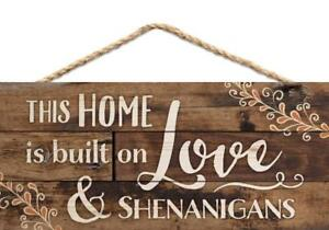 P. GRAHAM DUNN This Home is Built on Love Distressed Look 5 x 10 Wood Plank...