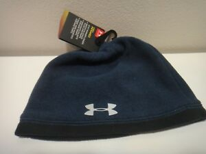 Under Armour Boys Youth Coldgear  Infrared Golf Beanie Hat Color Blue One Size