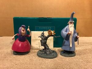 WDCC The Sword in the Stone - Merlin Mim Archimedes & Wart