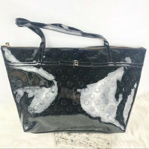 Kate Spade Patent Leather Black Handbag Tote Large