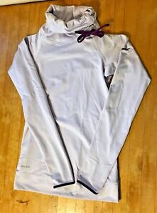 Cute Lavender Purple NIKE PRO Winter Compression Running Shirt Top Womens Sz XS