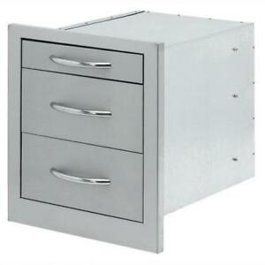 Cal Flame 18-inch Triple Access Drawer