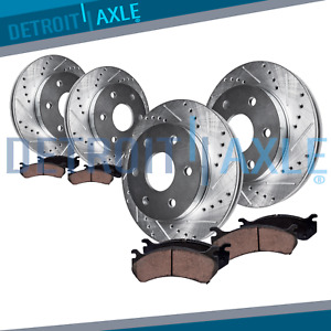 Front Rear Brake Rotor Ceramic Pad Chevy Trailblazer GMC Envoy V8 Brakes Kit $186.48