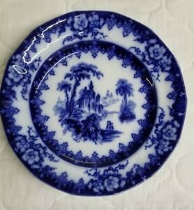Hicks & Meigh English Staffordshire Pottery 9 Salad Dessert Plate Pattern 21 24 Antique Porcelain Plates