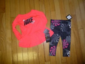 NWT NIKE BABY GIRLS LEGGINGSSHIRT NICE SIZE18 MONTHS DRI- FIT OUTFIT