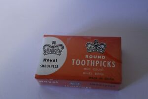 Royal  Round Toothpicks 800 Ct  Box Birch Wood Craft Modelers Supply