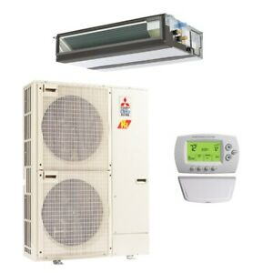 30000 BTU 16.5 SEER Mitsubishi Single Zone Heat Pump System - Concealed Duct