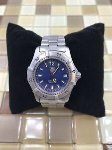 ae06d51e31e3 Tag Heuer Stainless Steel 2000 Wrist Watch Pro 200m WK1213 Midsize Blue Dial