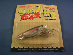 BAGLEY  DEEP DIVING SMALL FRY RAINBOW TROUT 3  FISHING LURE   RT   (1)