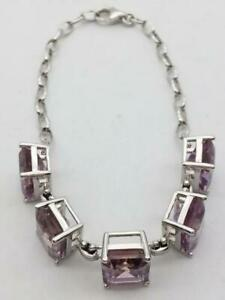 925 Silver with Five Ametrine Gemstone Bracelet Size Adjustable (AP1054743)