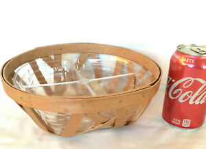 Free Form Bowl Basket Washed Maple Longaberger with Divided Protector New $42.36