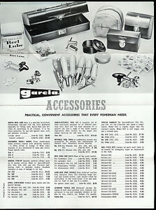 Garcia Mitchell Fishing Reels Accessories Tools Service Info Fold Out Brochure