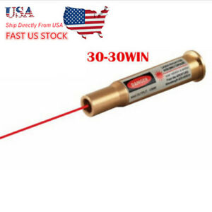 USA Brass Bullet Shape Red Laser CAL 30-30WIN Cartridge Bore Sighter Boresighter
