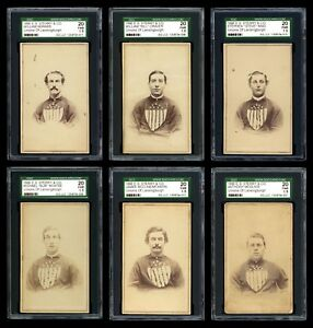 1866 E.S. Sterry & Co Lansingburgh UnionsTroy Haymakers First Baseball Card Set