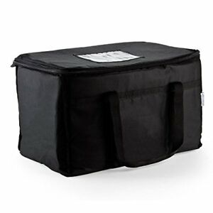 Resturant linen Insulated Nylon Food Delivery Bag  23in x 13in 15in Black