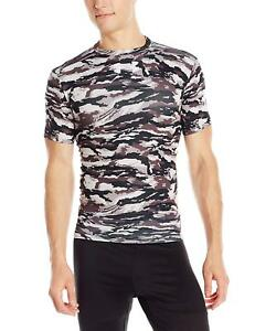 Under Armour Mens Woodland Stealth Camo Compression Shirt S- Pick SZColor.