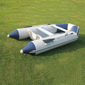 0.9mm PVC Inflatable Boat Fishing Raft Dinghy With Floor carry bag 4 Chambers
