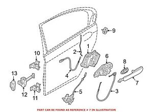 For BMW Genuine Exterior Door Handle Rear Right Outer 51217411036